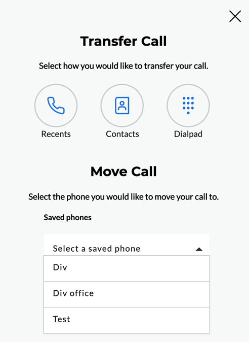 Call Mobility